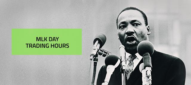 2019年 米キング牧師記念日に伴う取引時間変更